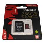 Карта памяти Kingston MicroSDXC 256GB Canvas React cl10 100R/80W U3 UHS-I V30 + SD adapter (SDCR/256GB) (220588)