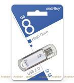 Флешка SmartBuy V-Cut USB 2.0 8GB Серебристый (221501)